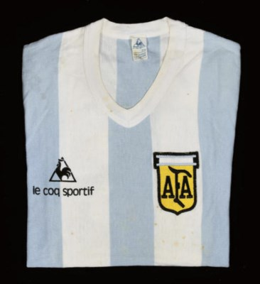 A BLUE AND WHITE ARGENTINA SHO