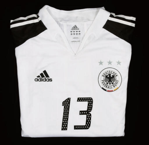 A WHITE GERMANY SHORT-SLEEVED
