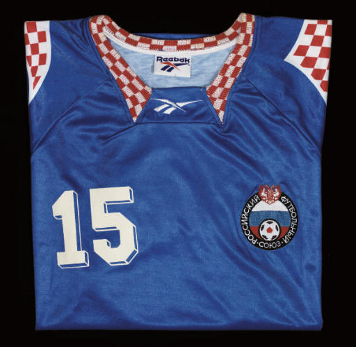 A BLUE RUSSIA SHORT-SLEEVED SH