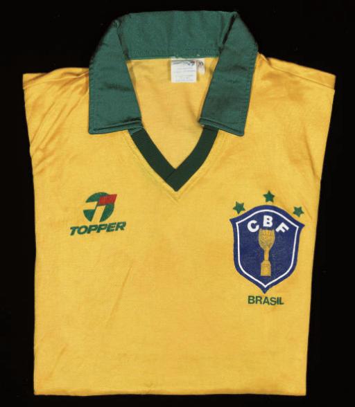 A YELLOW BRAZIL SHORT-SLEEVED SHIRT