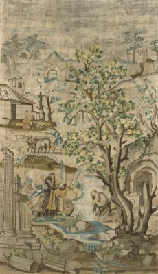 SAINT JEROME, AN EMBROIDERED P