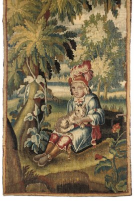 A TAPESTRY FRAGMENT OF A CHILD