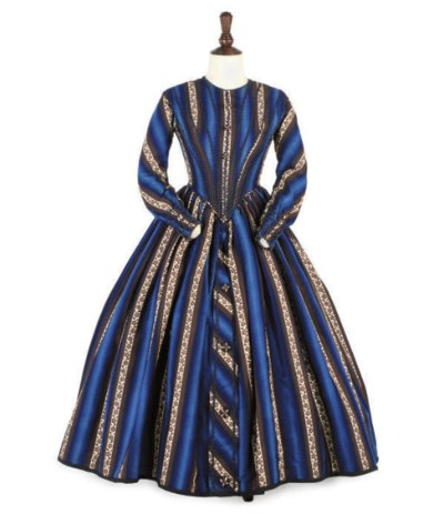 A STRIPED DAY DRESS, CIRCA 184