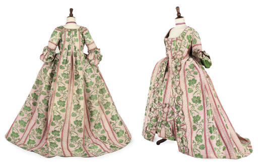 AN OPEN ROBE AND PETTICOAT, 17
