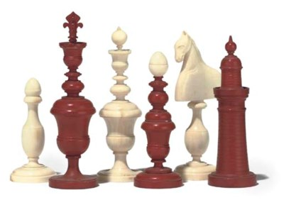 A FRENCH IVORY PLAYING CHESS S