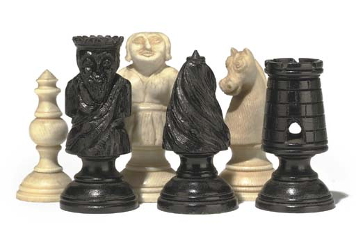 A CONTINENTAL CARVED IVORY AND