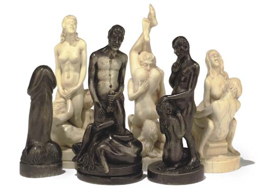 Chess erotic set