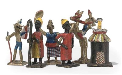 A WEST AFRICAN POLYCHROME BRON
