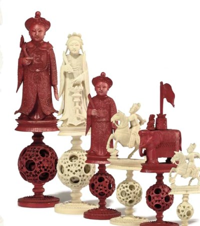 A CHINESE-EXPORT CARVED IVORY