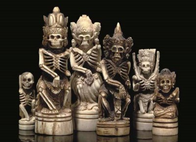 AN INDONESIAN CARVED BONE FIGU