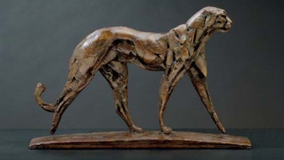 Walking Cheetah I Maquette