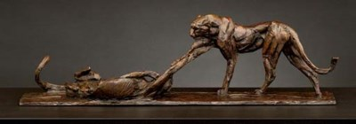 Playing Cheetahs Maquette