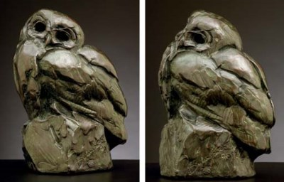 Wood Owl Maquette
