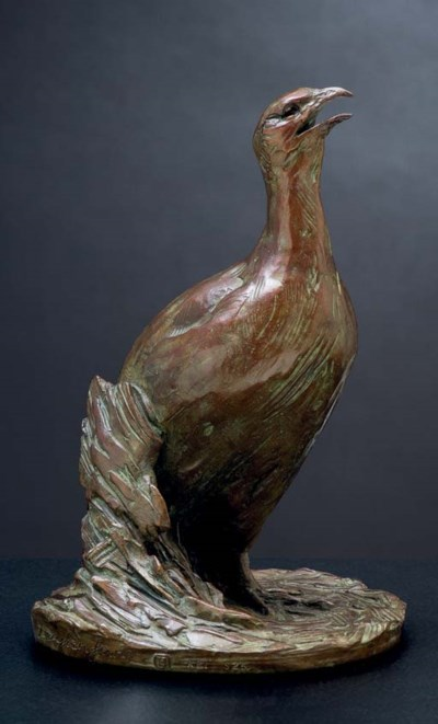 Greywing Francolin Maquette