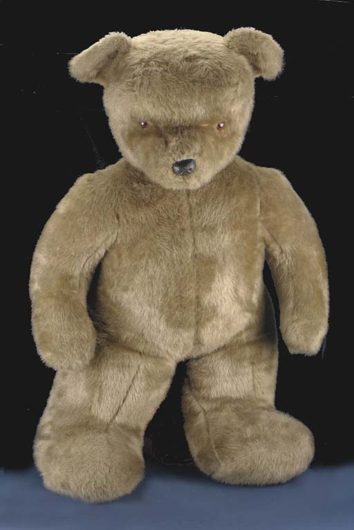 A large modern standing teddy