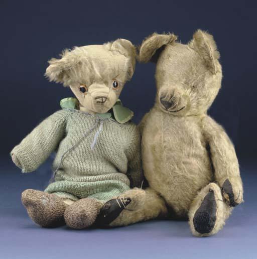 Two unusual British teddy bear