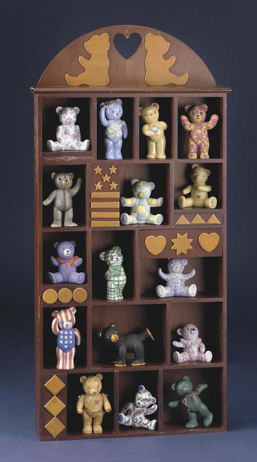 Sixteen Franklin Mint teddy be