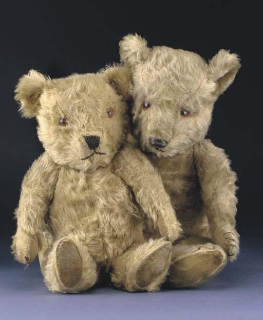 Two Chiltern Hugmee teddy bear