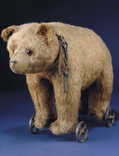 A German bear on wheels