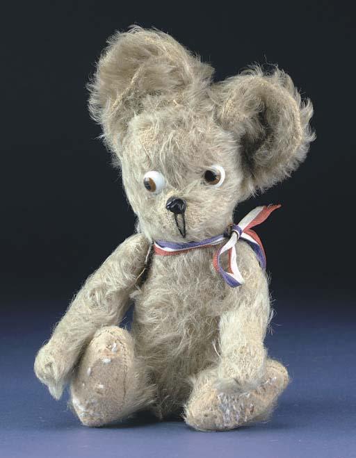 An unusual comic teddy bear