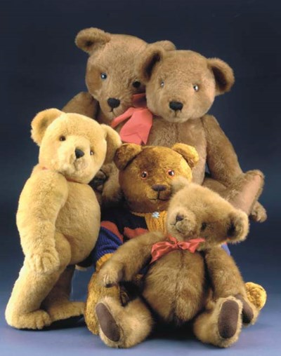 Various teddy bears from the w