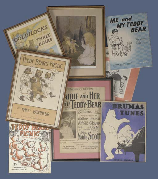 Various teddy bear song sheets