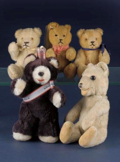 Small European teddy bears