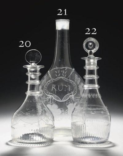 AN IRISH (CORK GLASS CO.) MOUL