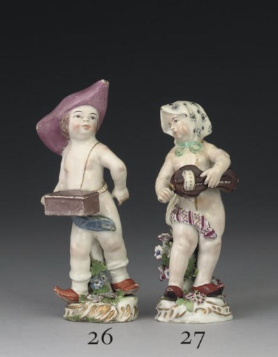 A CHELSEA FIGURE OF A CUPID DI