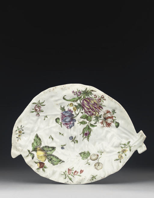 TWO WORCESTER LEAF SHAPED DISH