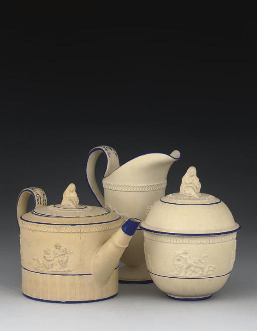 AN E.MAYER STONEWARE PART TEA-
