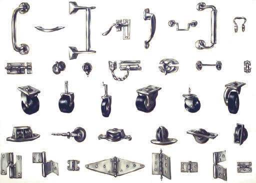 Pulleys, Handles, Castors, Locks and Hinges