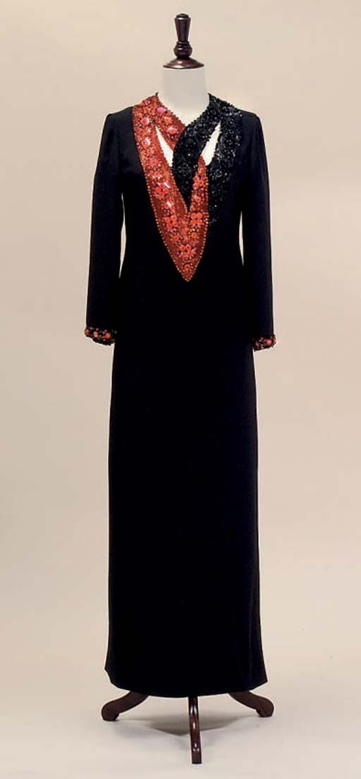 YVES SAINT LAURENT PARIS, AN EVENING CAFTAN