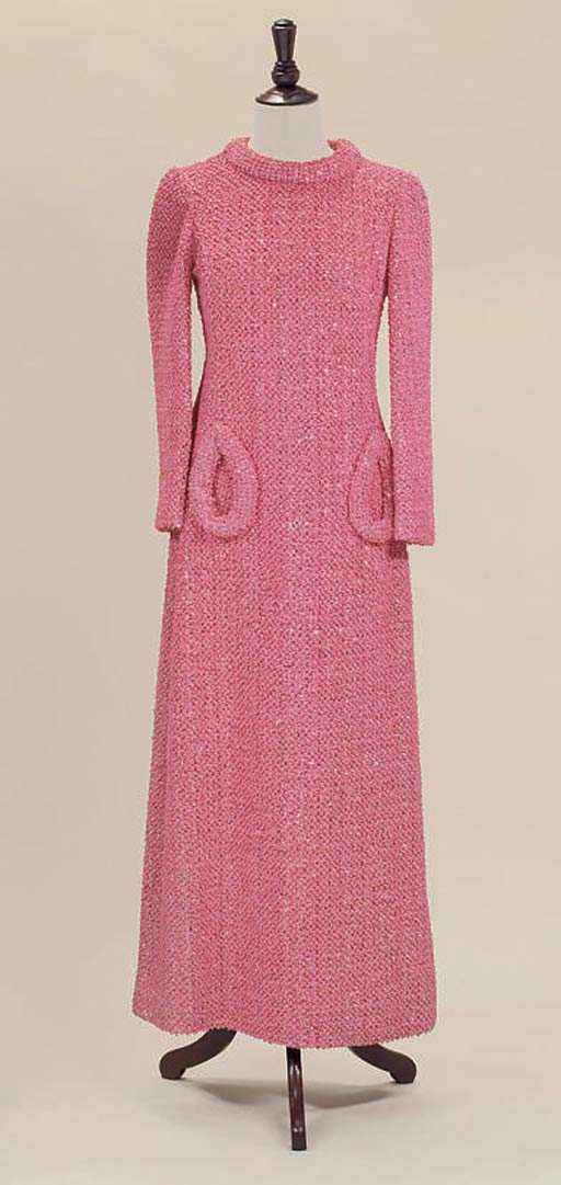 LOUIS FERAUD, A BUBBLEGUM PINK EVENING DRESS