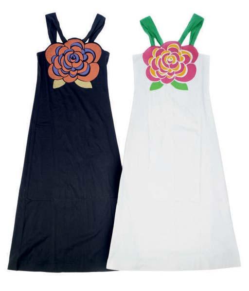 TWO KRIZIA COTTON BEACH DRESSES