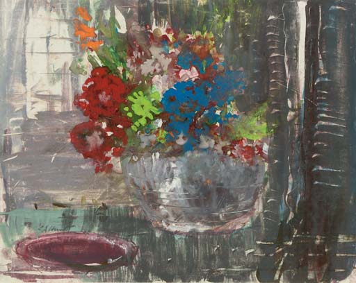 Still life with a distant window behind