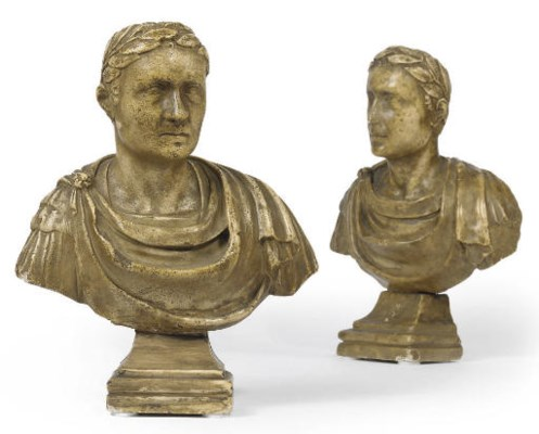 A PAIR OF ITALIAN SCULPTED MAR