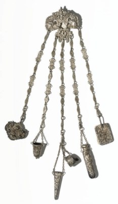A CHATELAINE CLIP AND A COLLEC