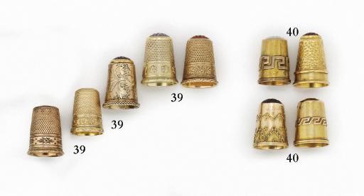 A German gold thimble