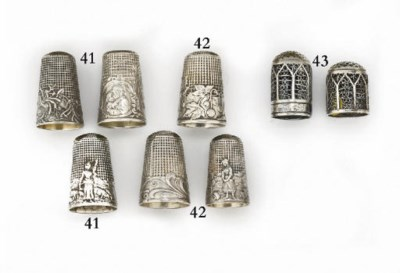 A French silver thimble