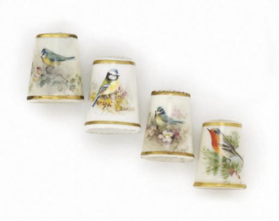 Four Royal Worcester porcelain