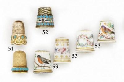 An English porcelain thimble