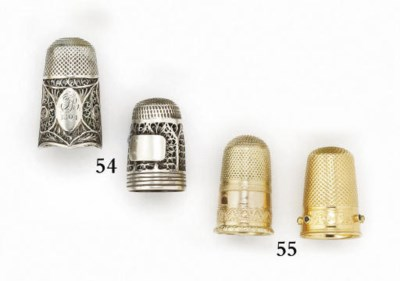 An English silver filigree thi