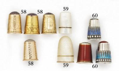 Four Norwegian 14ct. gold thim