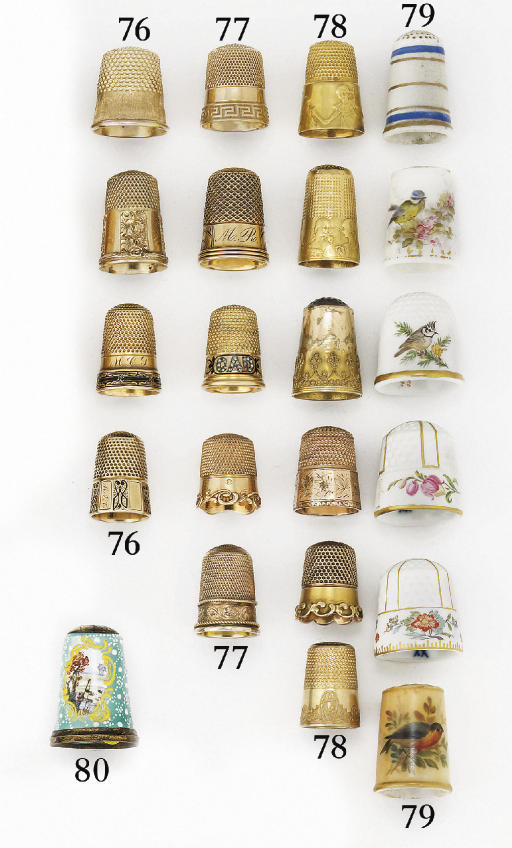 An American 14ct. gold and ena