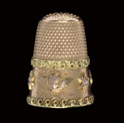 A diamond set two-colour gold