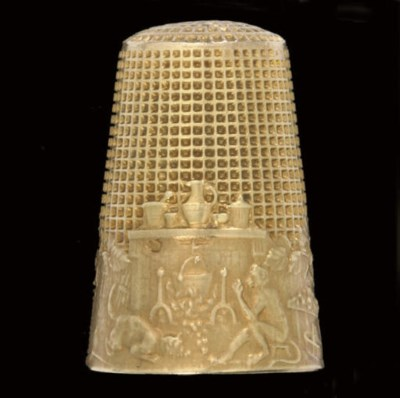 A French 18ct gold thimble