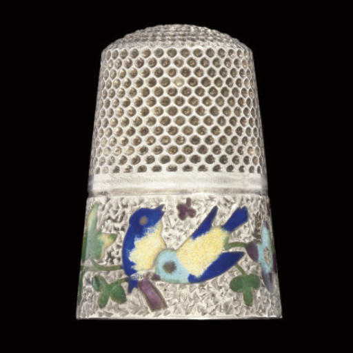 An English silver and enamel t