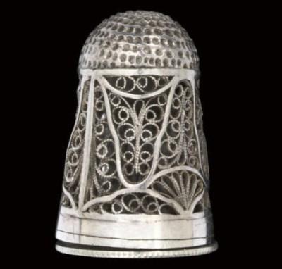 An English silver filigree com