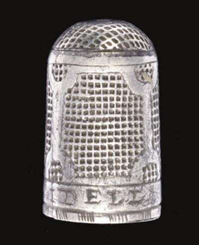 An English silver thimble